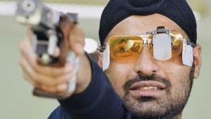 File photo of Indian shooter Gurpreet Singh(Twitter/SAIMedia)