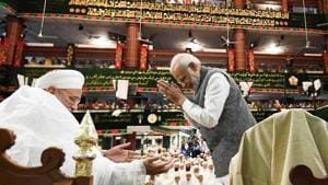 Prime Minister Narendra Modi said on Friday 'Vasudhaiva Kutumbakam' or concept of the world as one family gives India an identity that is different from other countries.(PIB Twitter)