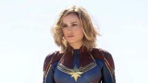 Brie Larson as Carol Danvers/Captain Marvel.