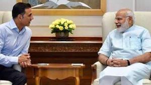 Akshay Kumar with Prime Minister Narendra Modi.