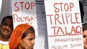 Activists of Joint Movement Committee protest on the issue of triple talaq at Jantar Mantar in New Delhi.(PTI/File Photo)