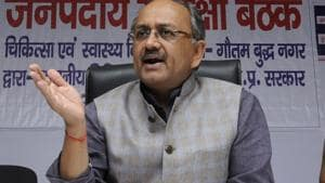"""UP health minister Sidharth Nath Singh, who had visited Bareilly last week, had said the government will undertake a """"death audit"""" to find out the number of those who died due to the fever.(File Photo)"""