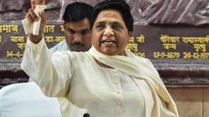 BSP chief Mayawati accused the RSS and BJP of being anti-Dalit and anti-Muslim.(PTI)