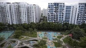 The gated housing societies are perceived as safe spaces as they offer more security to residents. However, despite the presence of added security, instances of crime against women continue to be reported from here.(Reuters)