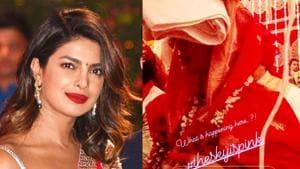 Priyanka Chopra was a vision in red at her onscreen wedding in Sky Is Pink. (Instagram)