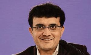"""The former Indian cricket captain, Sourav Ganguly was in the city on Monday to launch his book, """"A Century is Not Enough"""" at the Symbiosis Institute.(Virendra Singh Gosain/ Hindustan Times)"""