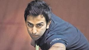 Pankaj Advani won bronze at the Asian Snooker Tour in Doha.(PTI)