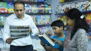 According to the panellists if bookstores are not a business to make money but it is working with passion.(Subhankar Chakraborty/ Hindustan Times)