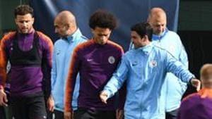 File image of Manchester City's German midfielder Leroy Sane (centre).(AFP)