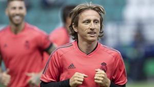File image of Real Madrid player Luka Modric.(AP)