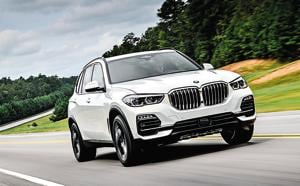 Details such as muscular wheel arches and a tautly skinned body retain the X5's athletic looks