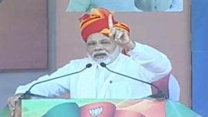 Prime Minister Narendra Modi said the Centre brought relief for triple talaq victims.(Twitter/@BJPLive)