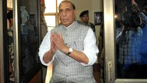 Union Home minister Rajnath Singh was speaking on the occasion of the 26th anniversary of the Rapid Action Force (RAF), a specialised wing of the Central Reserve Police Force (CRPF).(File Photo)