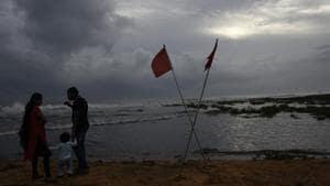Monsoon clouds gather above the Arabian Sea coast in Thiruvananthapuram on June 3.(AP File Photo)