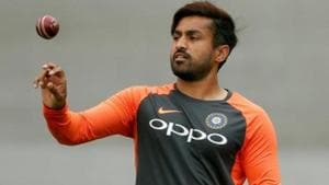 Karun Nai claimed he hadn't been informed by the selectors the reason for his ouster. Part of the Test squad in England, he didn't play a single match, but was dropped from the ongoing Test series against West Indies.(Reuters)