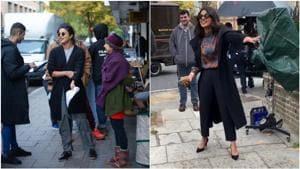 Priyanka Chopra is shooting for The Sky Is Pink in London.(Twitter)