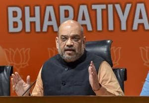 BJP National President Amit Shah addresses a press conference at the party headquarters, in New Delhi on Tuesday, July 31, 2018. (PTI Photo/Manvender Vashist) (PTI7_31_2018_000140B)(PTI File Photo)