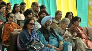 Audience during the first day of Khuswant Sing Literature Festival at Kasauli on October 12.(Ravi Kumar/HT)