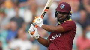 File image of opener Evin Lewis in action for West Indies.(Action Images via Reuters)