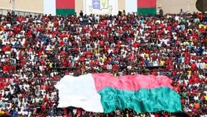 Madagascar qualified for their first ever African Nations Cup finals after beating Equatorial Guinea 1-0 at home(AFP/Getty Images)