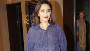 Swara Bhasker at the special screening of film Love Sonia.(IANS)