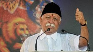 RSS chief Mohan Bhagwat.(PTI File Photo)