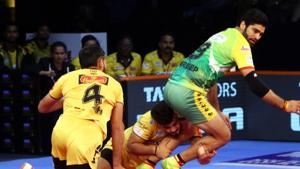 Telugu Titans are now top of the Zone B table with 16 points.(Pro Kabaddi)