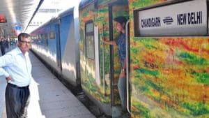 The executive chair car ticket usually priced at Rs Rs 1,000 had gone up to Rs 1,700.(HT File)