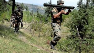 Sunday's gunfight in Sunderbani sector of Jammu left three Indian soldiers and two Pakistani intruders dead.(PTI/Picture for representation)