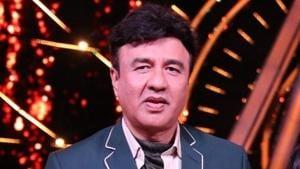 Music composer Anu Malik on the sets of singing reality show Indian Idol 10.(IANS)