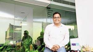 Vijay Shekhar Sharma Founder and CEO,Paytm, photographed in his office at Noida.(Ramesh Pathania/Mint)