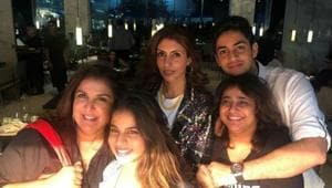 Farha Khan shared this lovely picture with Suhana Khan and Shweta Bachchan on Instagram.(Instagram)