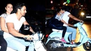 Kim Sharma was spotted all cuddled up with Harshvardhan Rane during a scooty ride on Wednesday. (Instagram)