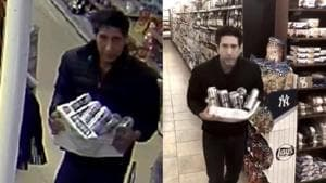 Friends star David Schwimmer shares a video as a solid alibi in his defence that he is not the grocery store thief.(Facebook)