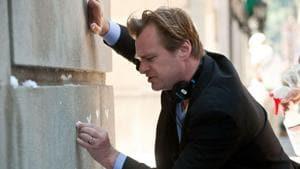 Christopher Nolan on the set of The Dark Knight Rises.