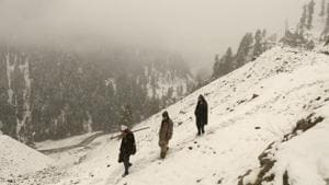 Kashmir Valley witnessed snowfall in the month of November for the first time since 2009.(Waseem Andrabi/ Hindustan Times)