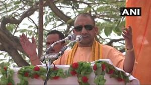 Yogi Adityanath, who is in Chhattisgarh for two days to campaign for the upcoming assembly elections in the state, on Saturday accused the Congress of putting national security at risk by promoting Maoism for political gains.(ANI)