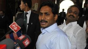 """YSR Congress Party president Y S Jaganmohan Reddy will resume his """"Padayatra"""" (foot march) Monday from Makkuva in Vizianagaram district.(HT File Photo)"""