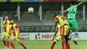 File image of Gokulam players in action during an I-League match.(PTI)