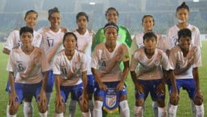 The Indian women's football team qualified for the Olympic Qualifiers second round for the first time.(AIFF)