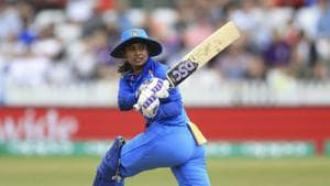 India's Mithali Raj during the ICC Women's World Cup fixture at the County Ground, Derby, England. Saturday June 24, 2017. (Nigel French/PA via AP)(AP)