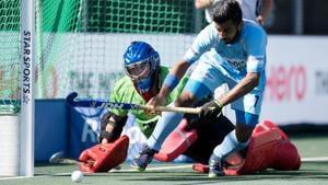 BREDA - Rabobank Hockey Champions Trophy Final Australia - India Photo: Manpreet Singh. COPYRIGHT WORLDSPORTPICS FRANK UIJLENBROEK(Frank Uijlenbroek)
