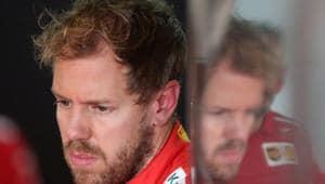 Formula One F1 - Brazilian Grand Prix - Autodromo Jose Carlos Pace, Interlagos, Sao Paulo, Brazil - November 10, 2018 Ferrari's Sebastian Vettel in the garage during practice(REUTERS)
