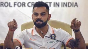 Indian cricket captain Virat Kohli during the team's Australia tour pre-departure press conference at the BCCI headquarters in Mumbai.(PTI)