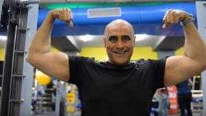 Puneet Issar hits the gym for 2.5 hours, 6 days a week. He's gotten in shape to play Duryodhana once again in a play called Mahabharata, written and directed by him.