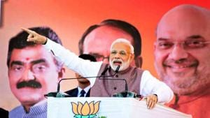 Prime Minister Narendra Modi will on Monday dedicate two projects in Haryana.(PTI)