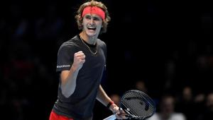 Alexander Zverev reacts during the final against Serbia's Novak Djokovic.(Action Images via Reuters)