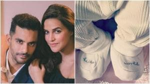 Angad Bedi and Neha Dhupia shared the first picture of their daughter Mehr.
