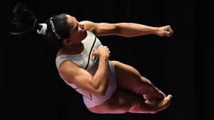 File image - India's Dipa Karmakar participates on the vault in the women's qualification one of the artistic gymnastics event during the 2018 Asian Games in Jakarta.(AFP)