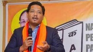 Meghalaya chief minister Conrad Sangma said his party NPP is the only one working for tribespeople and Christians.(PTI/File Photo)